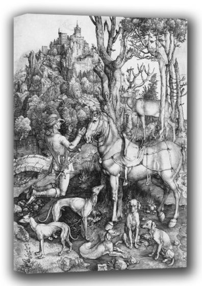 Durer, Albrecht: Saint Eustace. Fine Art Canvas. Sizes: A4/A3/A2/A1 (001916)